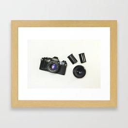 Old Photo Camera  Framed Art Print