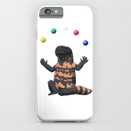 Funny Bocce Gila Monster juggles iPhone Case