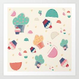 Cupcake cream Art Print