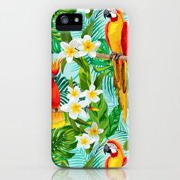 Tropical Parrot Chillin iPhone Case