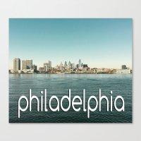 philadelphia Canvas Prints featuring Philadelphia  by redcoatstudiocolor