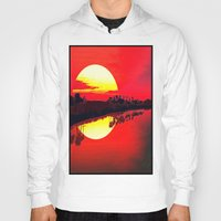 duvet cover Hoodies featuring Sunset duvet cover by customgift