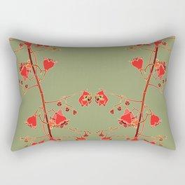 2941 llawarra-Flame-Tree#1-Green Rectangular Pillow