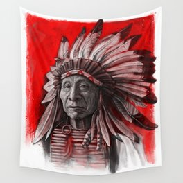 Red Cloud Wall Tapestry