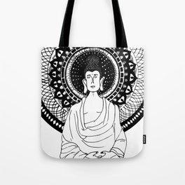 The Monk- White Tote Bag