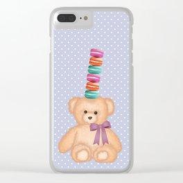 Cute yellow Teddy Bear Clear iPhone Case