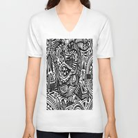 africa V-neck T-shirts featuring Africa by Pumpaillust