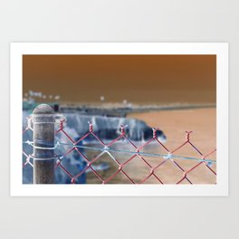 Fenced in by Society: Inverted Art Print