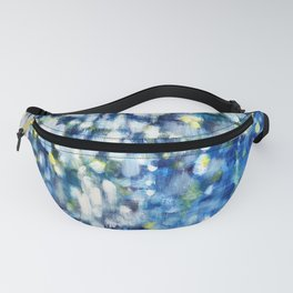 Dappled White and Blue Fanny Pack