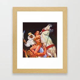 Captured! Framed Art Print