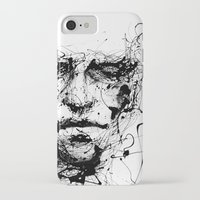 arcade fire iPhone & iPod Cases featuring lines hold the memories by agnes-cecile