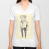 ryan gosling V-neck T-shirts featuring Ryan Gosling by withapencilinhand