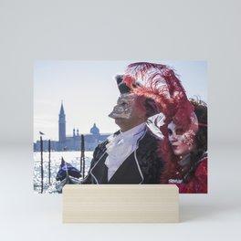 Couple of carnival masks in Venice Mini Art Print