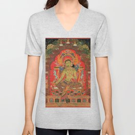 Green Tara and the Eight Fears Unisex V-Neck