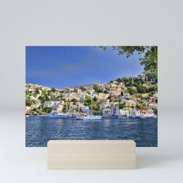 Symi island in Greece. Mini Art Print