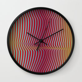 OpArt WaveLines 2 Wall Clock