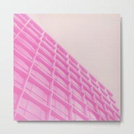 Pink Building Metal Print