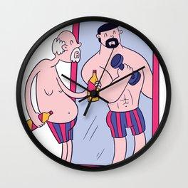 Old Man Mirror Wall Clock