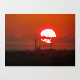 Fiery May Sunset Canvas Print