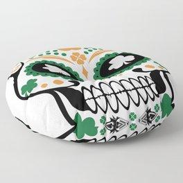 Clover Skull Floor Pillow