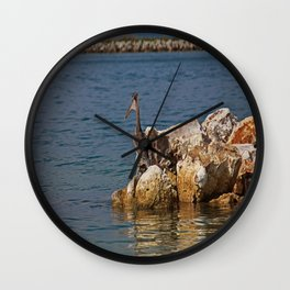 Clearwater Pelican Wall Clock