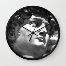 the David's face, Florence Tuscany Wall Clock