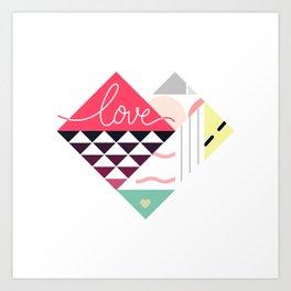 Tangram Heart Art Print