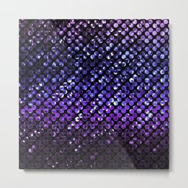 Crystal Bling Strass Purple G323 Metal Print