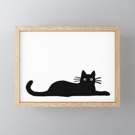 Black Cat(s) Framed Mini Art Print