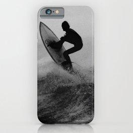 Surf black white iPhone Case