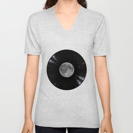 Awesome Moon and Stars Vinyl Unisex V-Neck