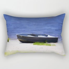 Boat on the beach Rectangular Pillow