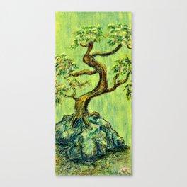 Teal Bonsai Canvas Print