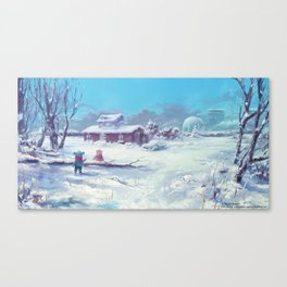 A Winter Scene, Alterslavia Canvas Print