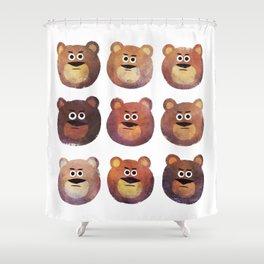 Nine Angry Bears Shower Curtain