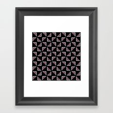 Squires with pink pattern Framed Art Print