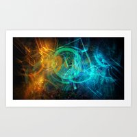 holographic Art Prints featuring Holographic Chaos by noistromo