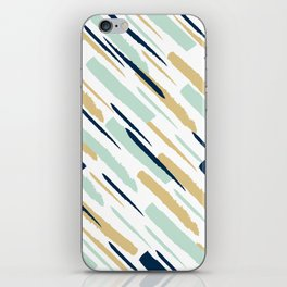 Diagonal strokes iPhone Skin