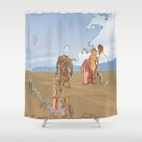 iceland Shower Curtains featuring Iceland People by Jonas A.lexander David
