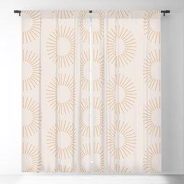 Minimalist Sunray Pattern XIV Blackout Curtain