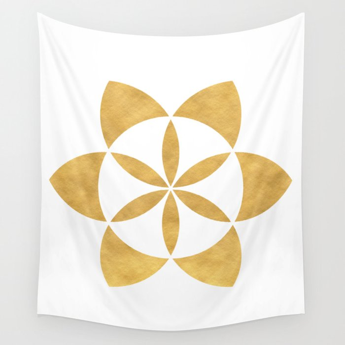 SEED OF LIFE minimal sacred geometry Wall Tapestry by deificusart