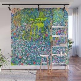 """Gustav Klimt """"Horticultural Landscape with hilltop"""" Wall Mural"""
