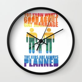 LGBT Parenting 2 Wall Clock