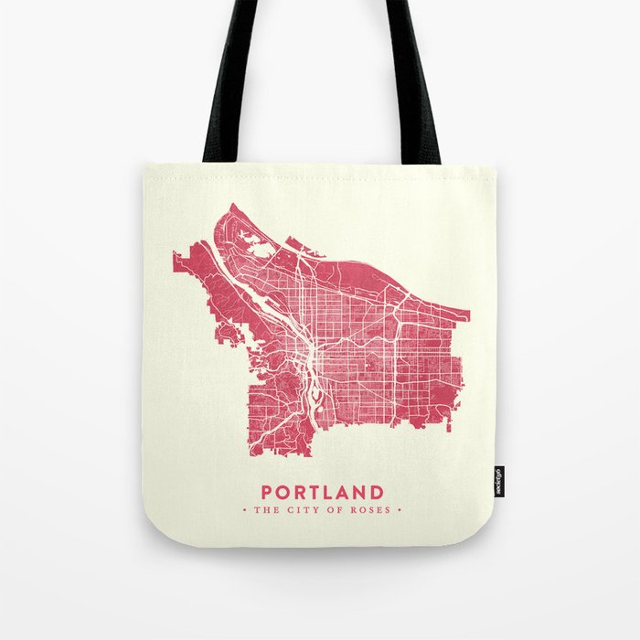 Portland City Map Tote Bag