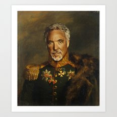 Sir Tom Jones - replaceface Art Print