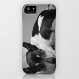 Mans Best Friend iPhone Case