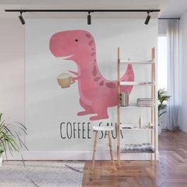 Coffee-saur | Pink Wall Mural