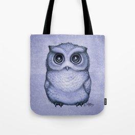 """The Little Owl"" by Amber Marine ~ (Lavender Bud Version) Pencil&Ink Illustration, (Copyright 2016) Tote Bag"
