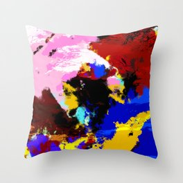 Hisaae - Abstract Colorful Batik Camouflage Tie-Dye Style Pattern Throw Pillow