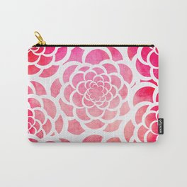 Girly hot pink watercolor abstract floral pattern  Carry-All Pouch